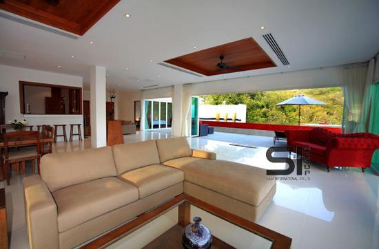 Aredna penthouse with a swimming pool in Phuket, Kamala Falls